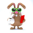 Chocolate bunny hands out a red card