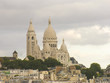 Paris. Wonderful aerial view of Sacred Heart Cathedral. La Basil
