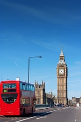 London Buses with Big Ben