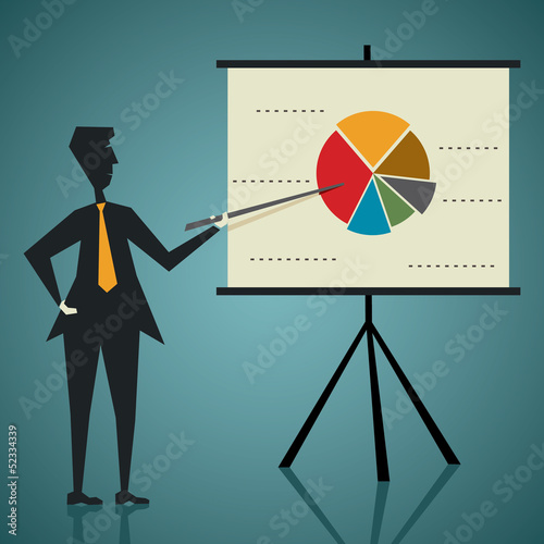 business presentation stock vector