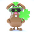 Chocolate bunny celebrates St Patricks Day