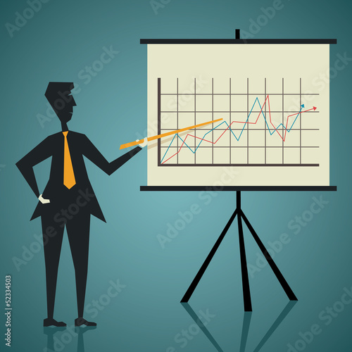 presentation of company growth stock vector