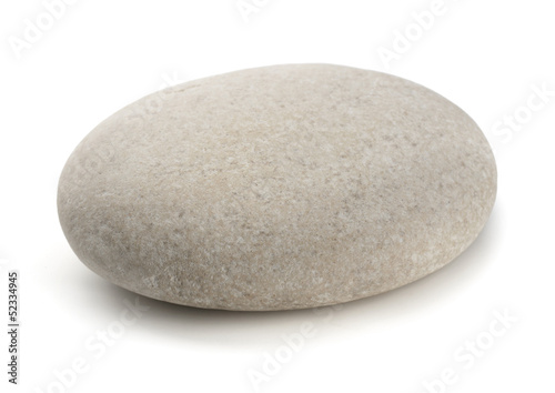 Single grey pebble