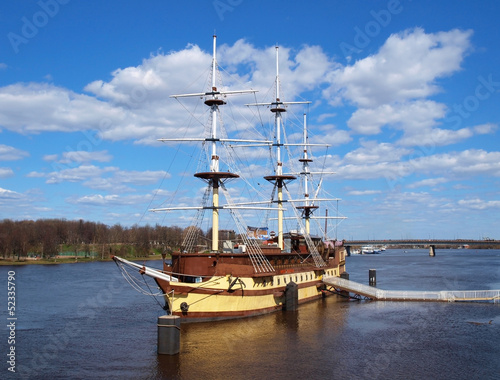 Big wooden frigate