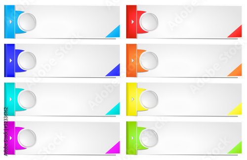Colorful options banner template