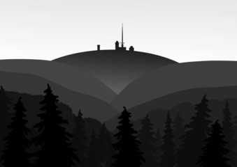 Harz, Brocken, Silhouette
