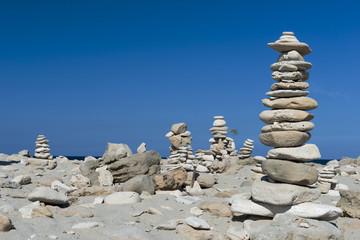 Pile of stones in beach