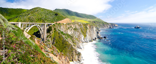 The Famous Bixby Bridge on California State Route 1 - 52339164