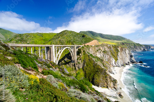 The Famous Bixby Bridge on California State Route 1 - 52339193