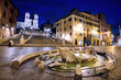 Spanish Steps, Barcaccia Fountain, Rome