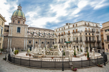 Brunnen Sizilien Palermo - Fontana Pretoria