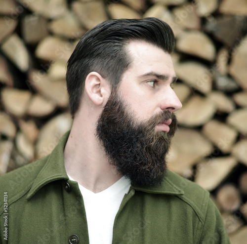 canvas print picture Vintage Haircut and Beard