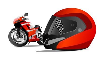 racing bikes and helmets