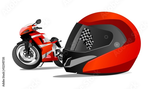 racing bikes and helmets