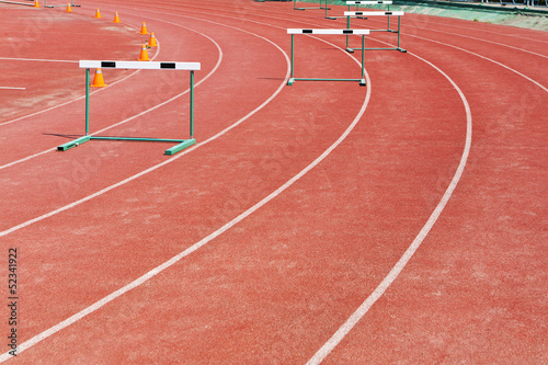 straight lanes of running track