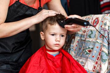 Haircut for little boy