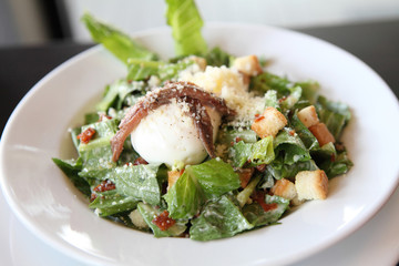 caesar salad in close up
