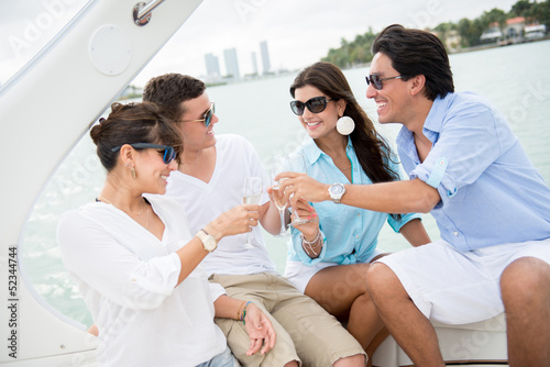 Group of people on a boat