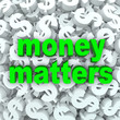 Money Matters Words Dollar Sign Currency Background