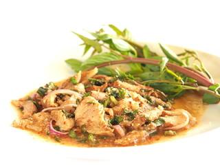 Thai cuisine - Spicy pork salad