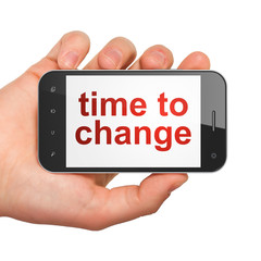 Timeline concept: Time to Change on smartphone
