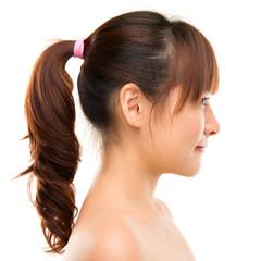 Asian woman profile.
