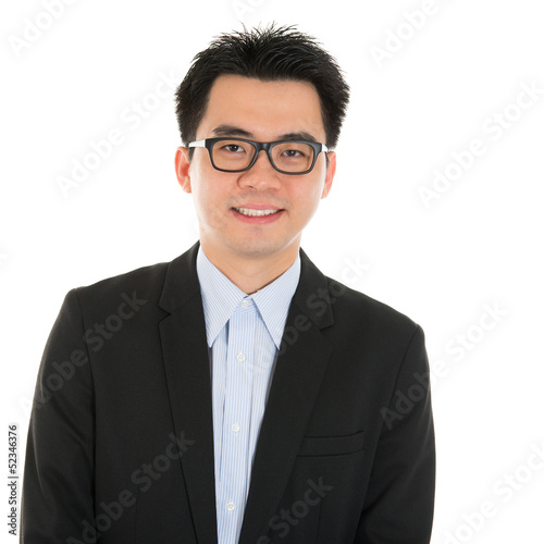 Smart Asian business man