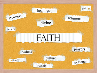 Faith Corkboard Word Concept