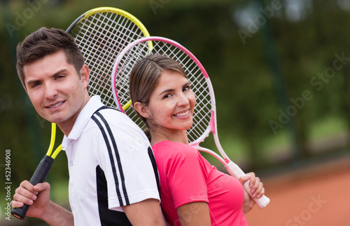 Couple of tennis players
