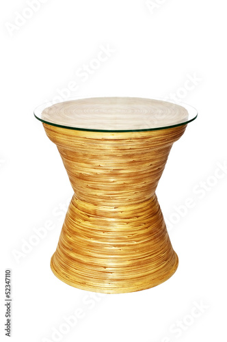 Bamboo table isolated