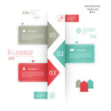 infographics options banners