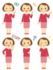 色々な表情 お母さん