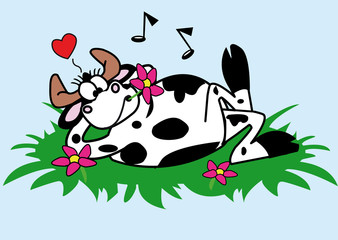 vache,taureau,personnage,bien-être,zen,kool,musique