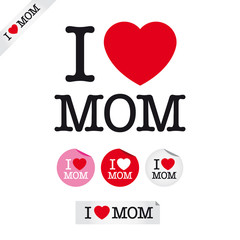 happy mothers day, i love mom, font type