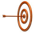 Orange illustration of target and arrow