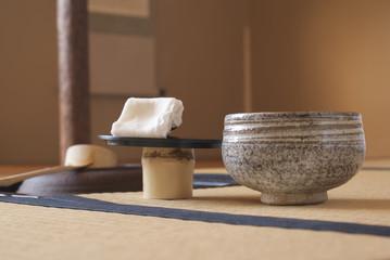 茶室(茶碗と茶釜)
