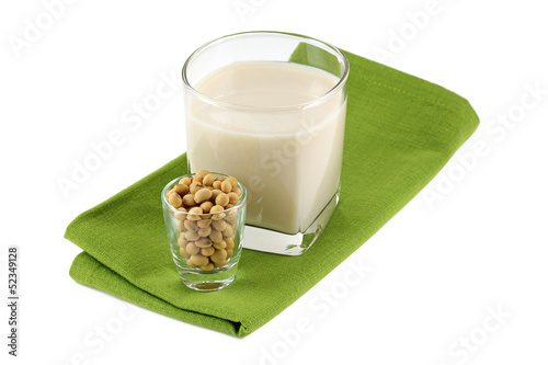 A Glass of Fresh Soy Milk (Soybean Milk, Soya)