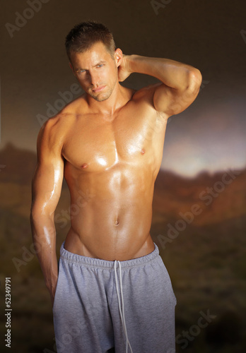 Young muscular male model