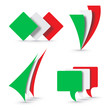 Vector logo italian flags