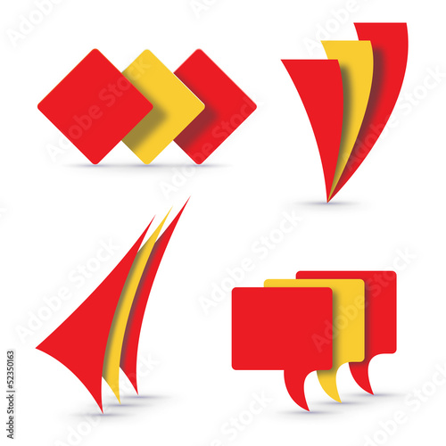 Vector logo Spanish flags