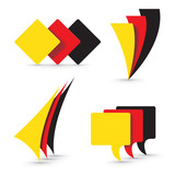 Vector logo German flags