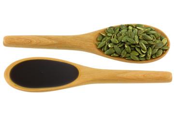 Pumpkin Seed Oil and Roasted Pumpkin Seeds