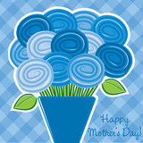 "Rose ""Happy Mother's Day"" card in vector format."