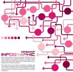 Maze of arrows info graphic/mindmap/flowchart.