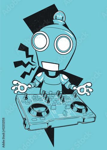 Naklejka Robot DJ