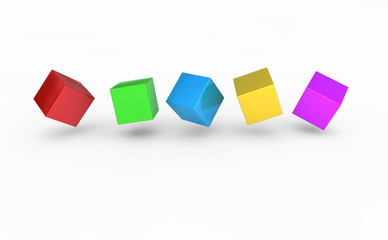 5 Würfel - Konzept Vielfalt
