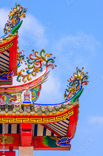 Roof Decoration of Chinese temple