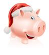 Christmas savings piggy bank