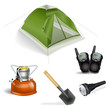 camping objects set