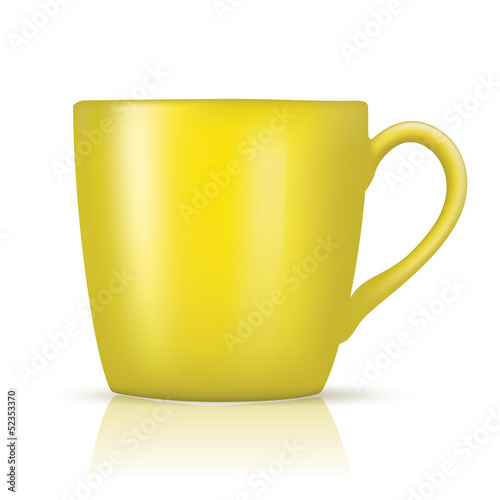 big yellow cup